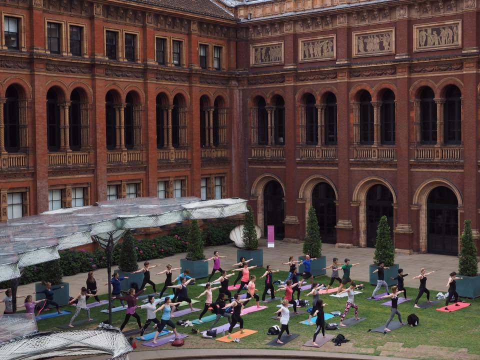 Timeless Yoga event at V&A London